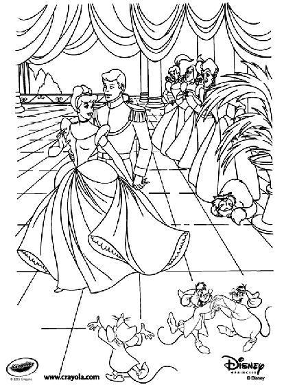 Disney Princess Cinderella At The Ball Free Coloring Page Ad Cinderella Dis Cinderella Coloring Pages Disney Princess Coloring Pages Princess Coloring Pages
