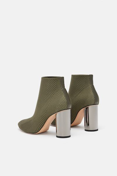 dc60c87b904 Fabric ankle boots with metallic high heels | Style to shop ...