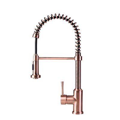Fontaine By Italia Spring Coil Flat Spray Head Pull Down Single
