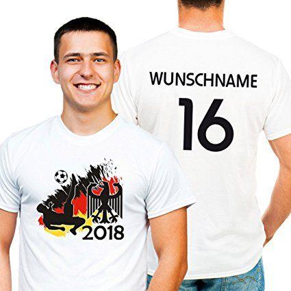 Deutschland Fussball Wm 2018 Trikot Premium T Shirt Persomalisiert Mit Wunsch Name Und Nummer Auch Ubergrosse Bis 5 Xl D Fussball Wm Deutschland Fussball Fanmeile