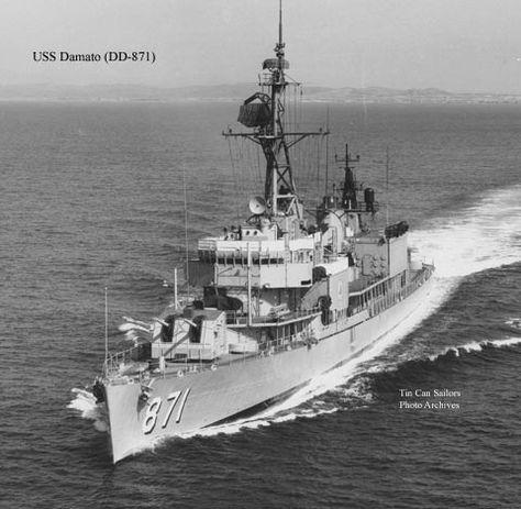 USN Navy Ship Print USS DAMATO DD 871 US Naval Destroyer