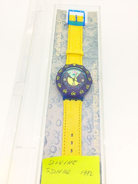Swatch Divine Scuba divers watch 1992 new unused in original box with papers wristwatch colle