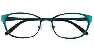 Manhattan Design Studio S3295 60 Satin Teal Silver B Retro Glasses Glasses Teal