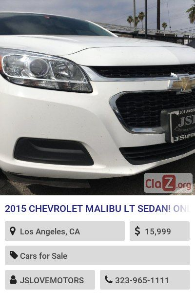 2015 Chevrolet Malibu Lt Sedan Only 56k Miles Under Powertrain