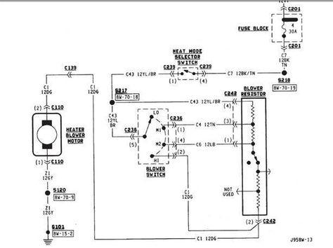 Xj Heat Not Blowing Heat Blower Electrical Diagram Electrical Diagram Blow Diagram
