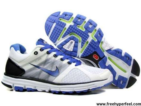 buy online 610ca 994a9 Sale Cheap Mens 407648-012 White Blue Nike Lunarglide 2 Lightweight Shoes