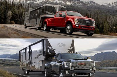 30 000 Pound Towing Comparison Gmc Sierra 3500 Vs Ford F 350 Tow