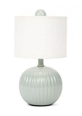 Gallery Designs Lighting Oyster Linen Shade On Antique Jade