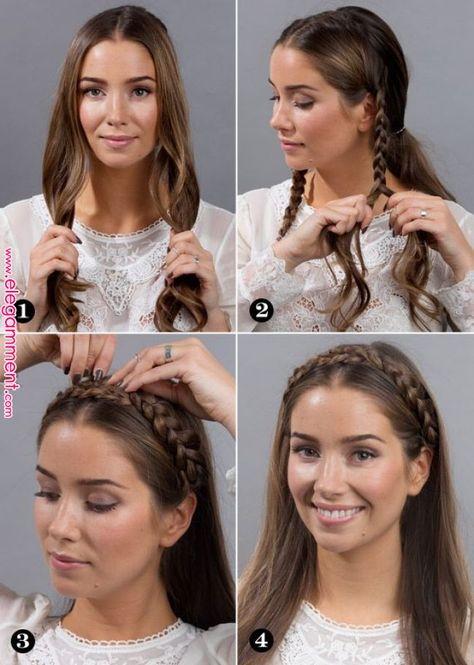 "Easy way to make a ""milkmaid"" Dutch braid | Hair & Beauty in 2019 | Pinterest | Hair styles, Hair and Braids"