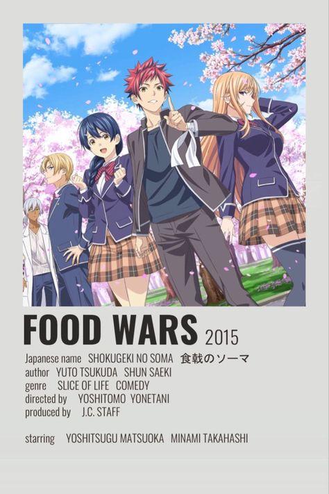 Food Wars Minimalistic Poster
