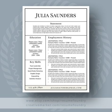 207 best Resume Templates many free images on Pinterest Resume - digital journalist resume