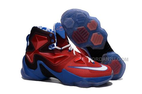 promo code 269db 16300 Shop Nike LeBron 13 Grade School Shoes Captain America Cheap To Buy black,  grey, blue and more.