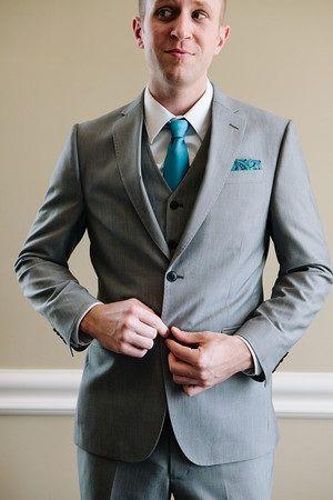 Wedding getting ready photos groom teal tie | Wedding Ideas ...