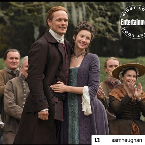 "Elizabeth on Instagram: ""#Repost @samheughan with @get_repost ・・・ That's a wrap! Season 5! What a family.xx @outlander_starz @entertainmentweekly @caitrionabalfe"""