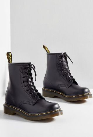 I Like How You Lean Leather Boot in 5 – Flat – Mid-calf by Dr. Martens from … I Like How You Lean Leather Boot in 5 – Flat – Mid-calf by Dr. Martens from ModCloth Dr Shoes, Hype Shoes, Me Too Shoes, Youth Shoes, Shoes Sneakers, Leather Lace Up Boots, Black Leather Shoes, Black Combat Boots, Nike Leather