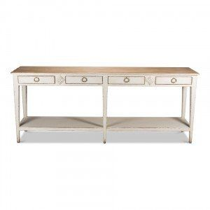 White Provincial Hall Table Shabby Chic Console Table White