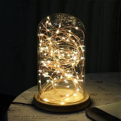 Bouteille Lights Big house table verre Fée Lumière DEL Industrial Living bouteilles