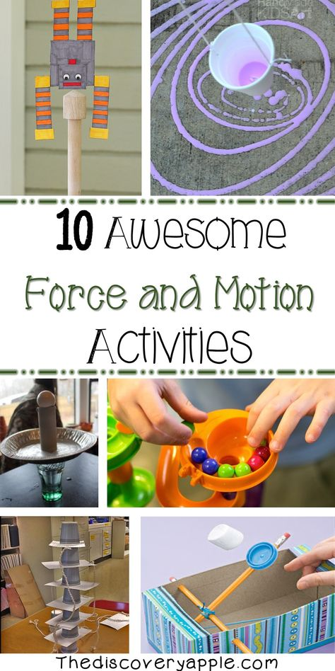 10 awesome force and motion activities. Lots of great activities all in one place! 10 awesome force and motion activities. Lots of great activities all in one place! Preschool Science, Science Resources, Science Education, Teaching Science, Science For Kids, Science Ideas, Science Sans, Science Memes, Science Worksheets