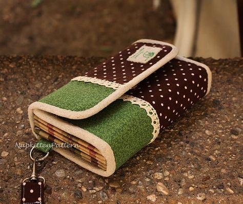 Accordeon Brieftasche/Kupplung Nähen von NapkittenPattern auf Etsy