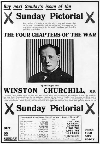 252 Piece Puzzle. WW1 by Winston Churchill in the Sunday