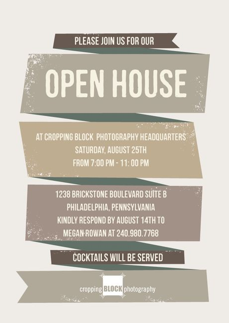 Open House Invite  Real Estate    Open House And Fonts