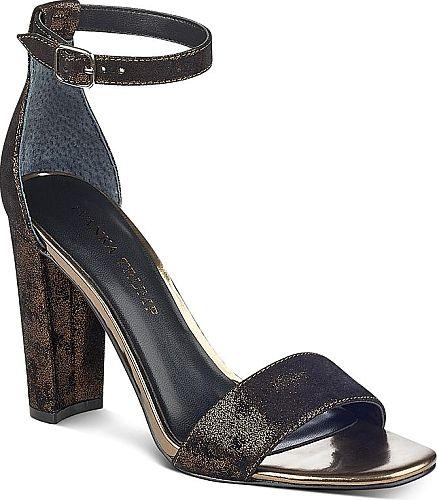 Ivanka Trump Women's Shoes in Gold Color. Ivanka Trump Women's Emalyn Ankle  Strap Block Heel