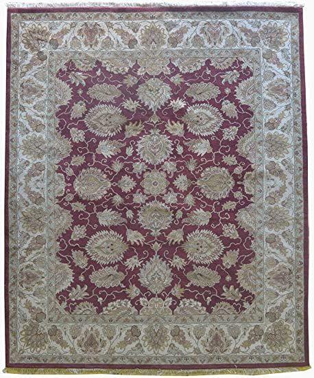 Merorug Hand Knotted Nepali Carpet 8 X 10 Nepalese Handmade Area Rug 8 Feet X 10 Feet Wool 10 X 10 Knot Red Color In 2020 Handmade Area Rugs Area Rugs Hand Knotted