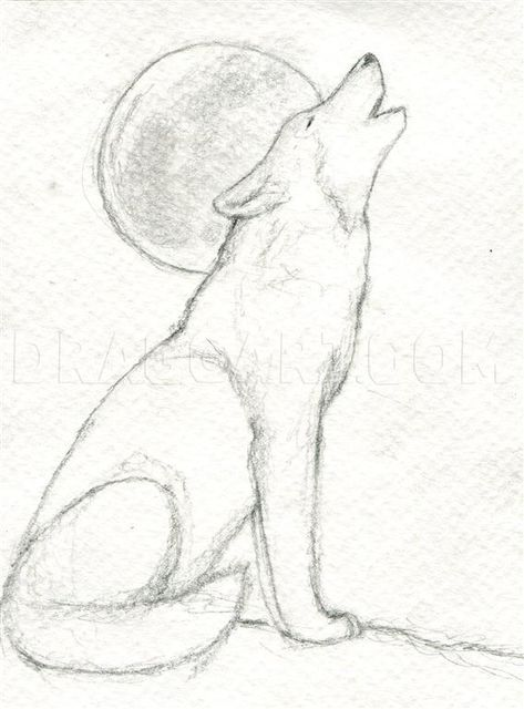 How To Draw A Howling Wolf, Step by Step, Drawing Guide, by finalprodigy | dragoart.com Wolf Howling Drawing, Wolf Drawing Easy, Husky Drawing, Drawing Guide, Wolf Sketch Easy, Drawing Ideas, Moon Drawing, Drawing Tutorials, Easy Animal Drawings