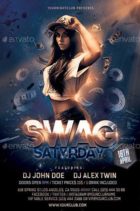 Download the Swag Party Flyer Template - PSD | FFFLYER