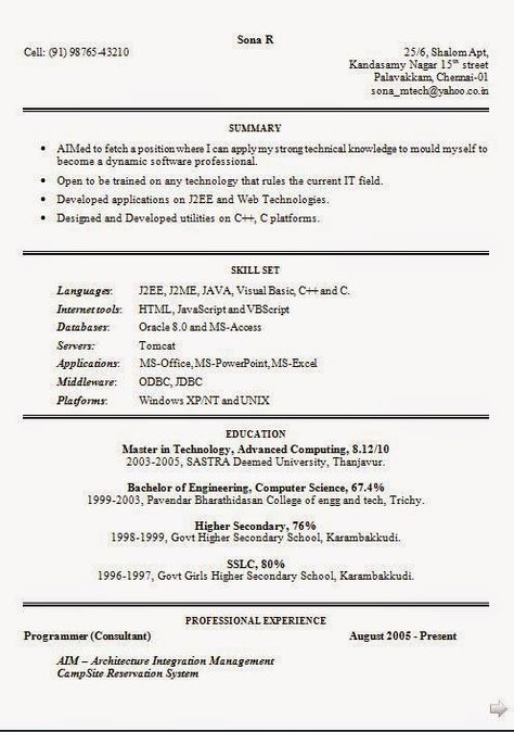 Resume Doc Format. Experienced Chartered Accountant Resume Sample ...
