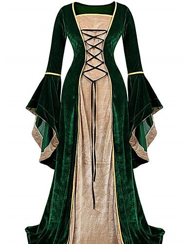 Women/'s Medieval Renaissance Vintage Gown Dress Halloween Party Cosplay Costume