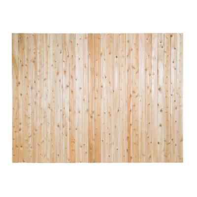 6 Ft X 8 Ft Premium Cedar Lattice Top Fence Panel With Stained Spf Frame Actual Size 68 3 8 In H X 96 In W Wood Fence Fence Panels Eastern White Cedar