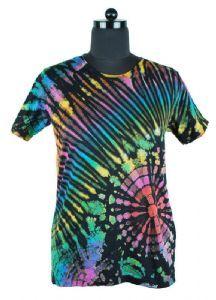Glow In Dark Both Side Print DRAGON WITH SWORD New Men Gothic Tye Dye T-Shirt