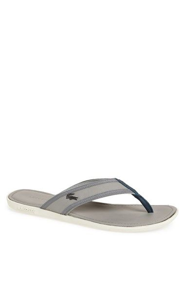 Lacoste Sandals, Mens Carros Six SRM Flip Flop Dark Brown - £54.99 | sandals  | Pinterest | Lacoste, Dark brown and Flipping