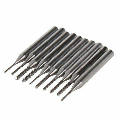 10x 3.175mm Carbide End Mill Engraving Bits CNC PCB Machinery 0.6-1.5mm CuttingTool