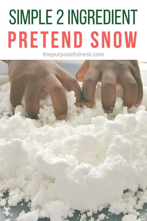 Learn how to make pretend snow with only 2 simple ingredients. The perfect winter sensory play idea. Learn how to make pretend snow with only 2 simple ingredients. The perfect winter sensory play idea. Winter Crafts For Toddlers, Winter Activities For Kids, Toddler Activities, Winter Preschool Activities, Sensory Activities For Preschoolers, Activities For 2 Year Olds, Science With Toddlers, Sensory Play For Toddlers, Christmas Activities For Children