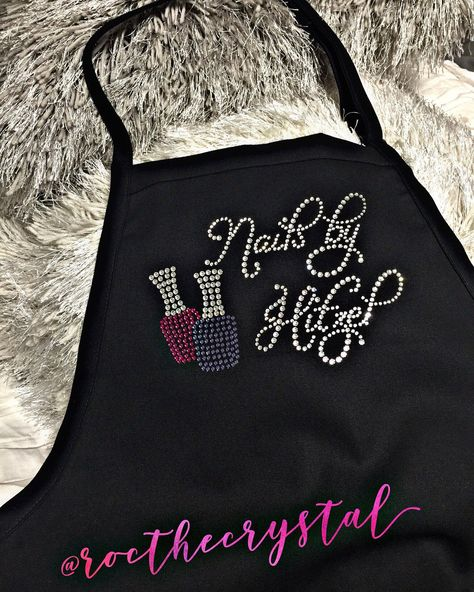 Excited to share this item from my #etsy shop: Customize your own Nail Tech Apron #customapron #swarovskibling #nailpolish #nailsby #swarovski #apron #nailtechapron #rhinestone