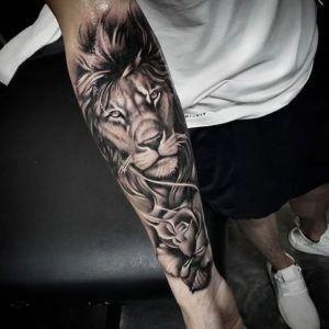 Easy Half Sleeve Tattoos Halfsleevetattoos Lion Forearm Tattoos Lion Tattoo Sleeves Best Sleeve Tattoos