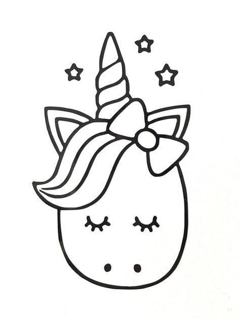 Coloring Pages Unicorn Cute