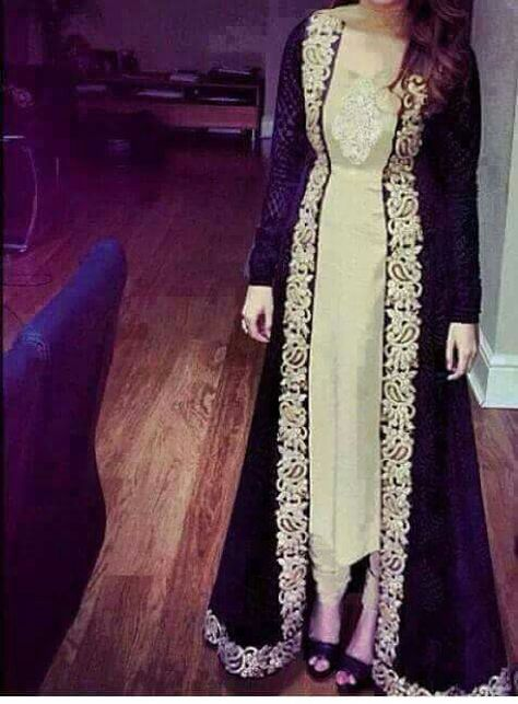 variety of designs and colors special discount of available Black embroidered long shrug | very indian.. in 2019 ...