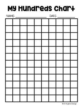 FREE Hundreds Chart Printables: 100 and 120 {A Hughes Design ...