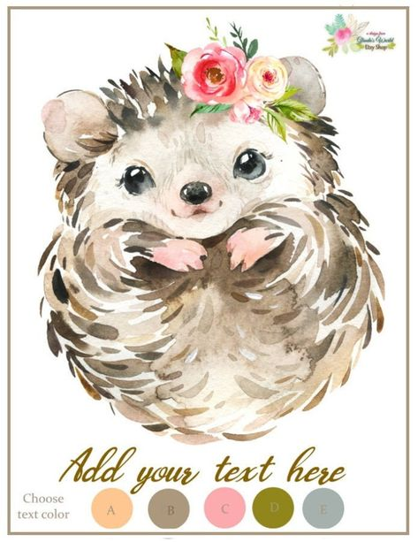 Hedgehog Wall Art | Etsy