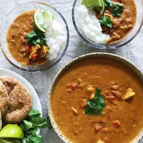 Indisk Curry Opskrift Med Kylling Opskrift Indiske Opskrifter Indisk Mad Aftensmad
