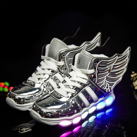 NEW Fashion 7 Colors LED Luminous Breathable Air Sneakers Unisex BLACKSTREET