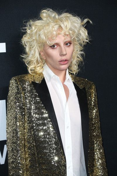 Lady Gaga attends SAINT LAURENT at the Palladium.