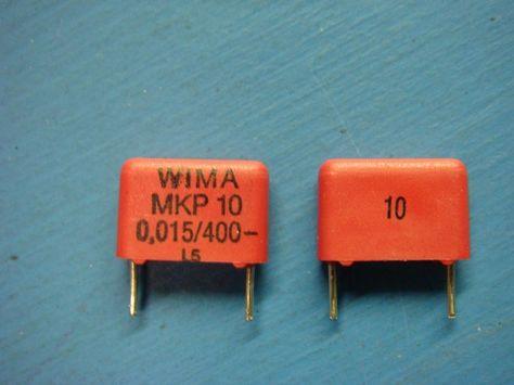 10 Wima Mkp10 0 015 400 10 0 015uf 400v 10 Polypropylene Capacitor Capacitors 10 Things Polypropylene