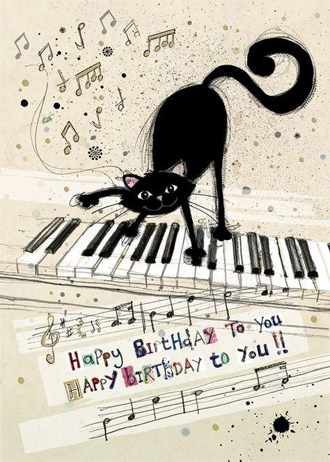 Открытка пианистке с днем рождения, хорошим здоровьем