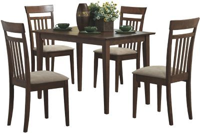 Vaughan 5 Piece Dining Set In 2020 Solid Wood Dining Set