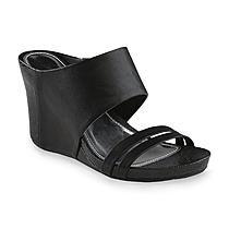 Metaphor Women's Asia Black Wedge Sandal | Black wedge