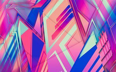 تحميل خلفيات الأشكال الهندسية مثلثات خلفية الأرجواني الهندسة مثلثات الملمس الأرجواني مجردة الخلفية Besthqwallpapers Com Purple Abstract Abstract Purple Backgrounds